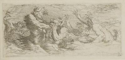 The Works of Salvator Rosa: Three Battling Tritons