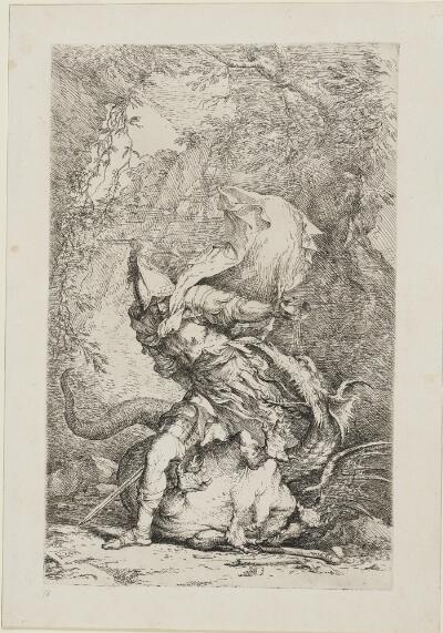 The Works of Salvator Rosa: Jason and the Dragon