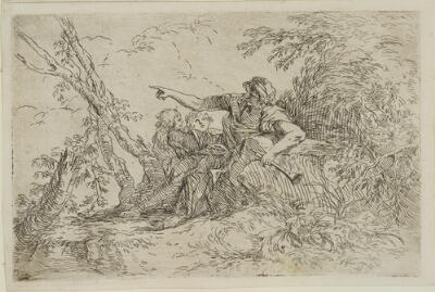 The Works of Salvator Rosa: Shepherd with a Flute and Two Other Figures