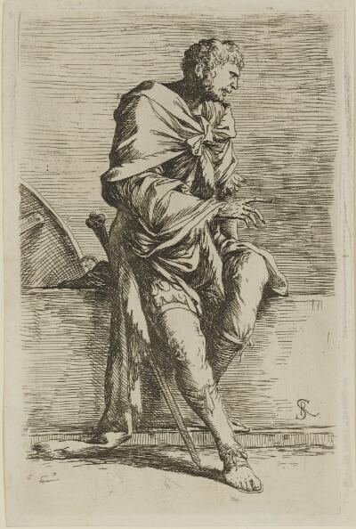 The Works of Salvator Rosa: Soldier, Seated
