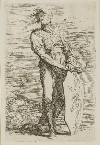 The Works of Salvator Rosa: Soldier Holding a Shield