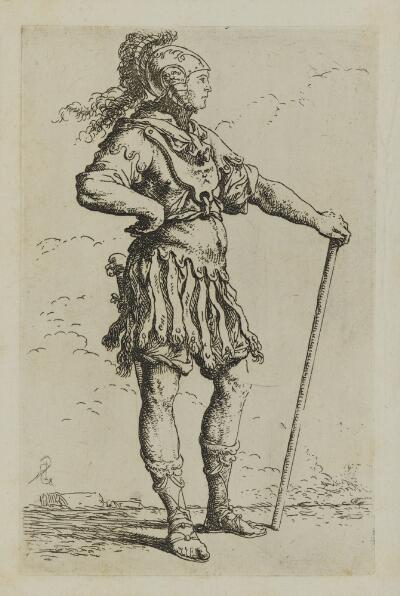The Works of Salvator Rosa: Solider with a Cane, Facing Right