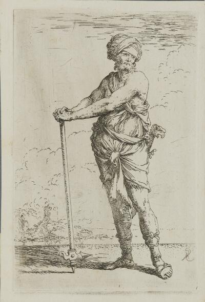 The Works of Salvator Rosa: Soldier, Standing, Holding a Pike with Both Hands