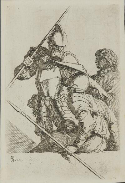 The Works of Salvator Rosa: Two Soldiers, One in a Helmut and Bearded