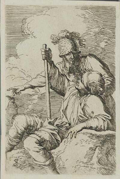 The Works of Salvator Rosa: Man with Cane, Seated and Soldier in Helmut