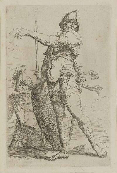 The Works of Salvator Rosa: Soldier Holding a Shield with the Head of Medusa