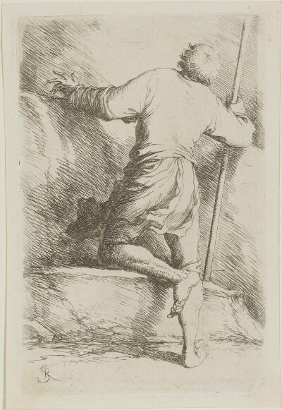 The Works of Salvator Rosa: Man with Staff Seen from Behind