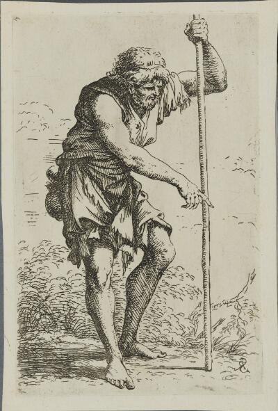 The Works of Salvator Rosa: Peasant with Staff