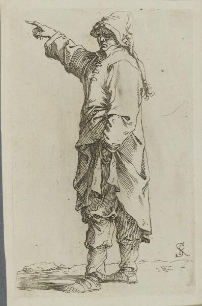 The Works of Salvator Rosa: Man Standing, with Arm Raised, Pointing to the Left