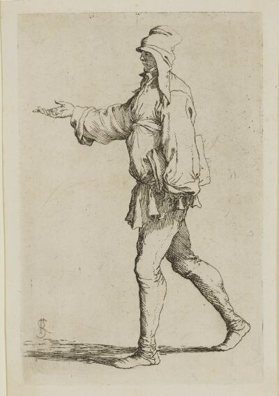 The Works of Salvator Rosa: Man Striding with Right Arm Outstretched