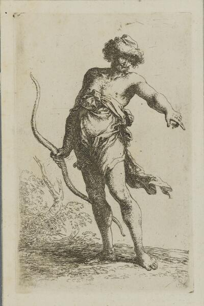 The Works of Salvator Rosa: Man with Bow, Pointing to the Right