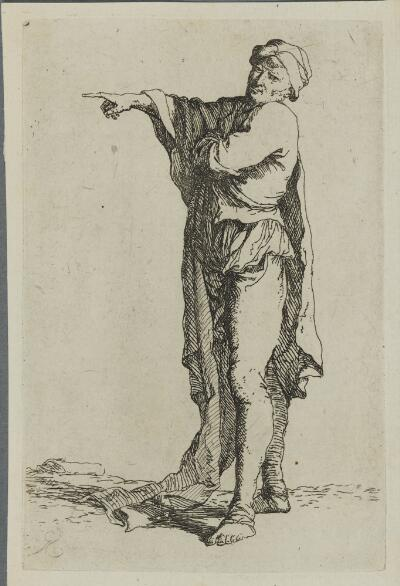 The Works of Salvator Rosa: Man Standing, His Arm Pointing Horizontally
