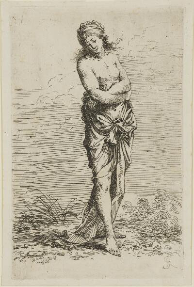 The Works of Salvator Rosa: Semi-Nude, Walking Toward the Right