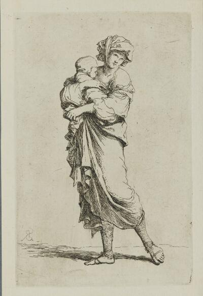 The Works of Salvator Rosa: Young Mother Carrying an Infant