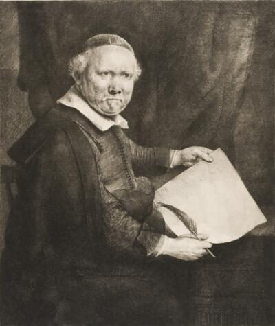 Lieven Willemsz. Van Coppenol, Writing-Master:  the Larger Plate
