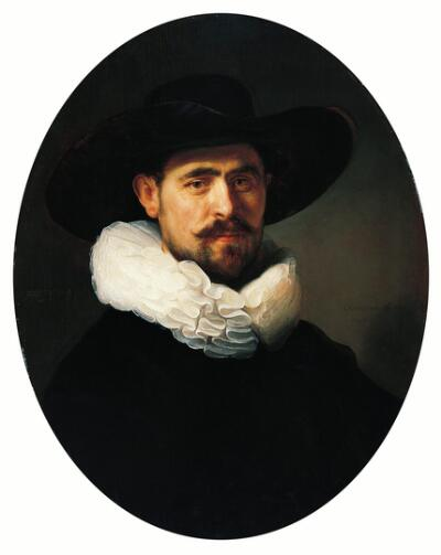 Portrait of a Bearded Man in a Wide-Brimmed Hat