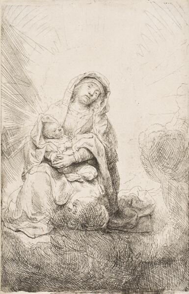 Virgin and Child in the Clouds