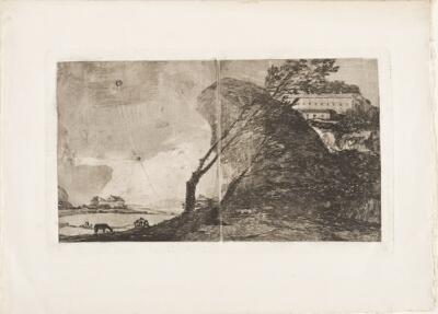 Landscape with Buildings and Trees