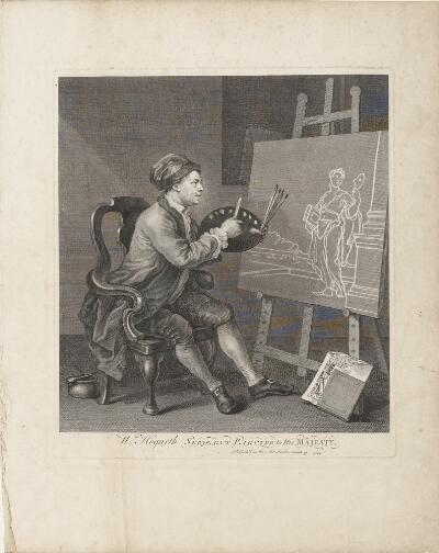William Hogarth Painting the Comic Muse