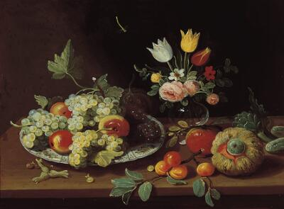 Still Life with Fruits and a Vase