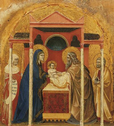 Coronation of the Virgin Altarpiece:  Circumcision