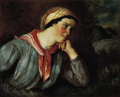 Peasant Girl with a Scarf