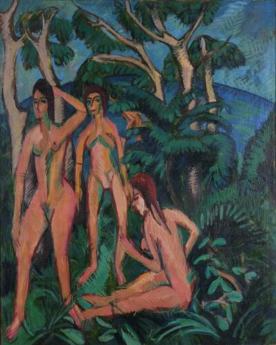 Bathers Beneath Trees, Fehmarn
