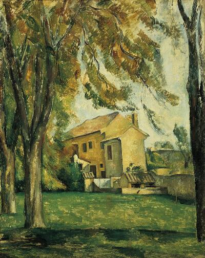 Farmhouse and Chestnut Trees at Jas de Bouffan