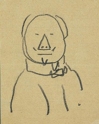 Self-Caricature, with Triangle Nose