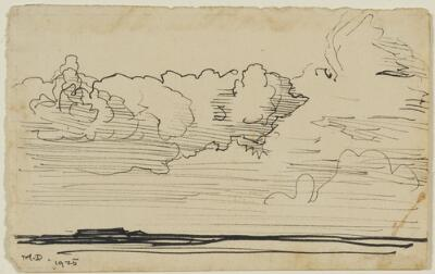 Landscape with Billowing Clouds
