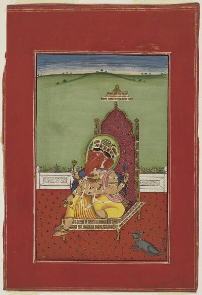Ganesh Enthroned