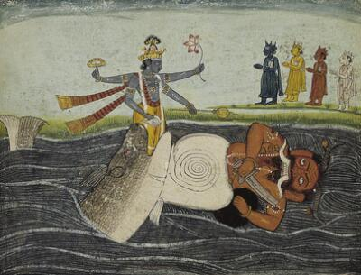 The Fish (Matsya) Incarnation of Vishnu