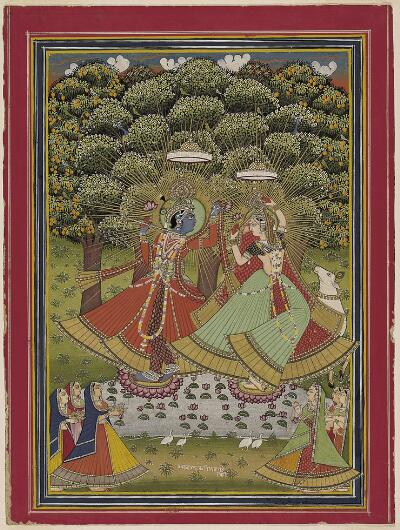 Ladies Worship Krishna and Radha