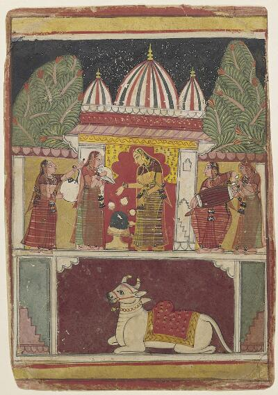 Folio from a Ragamala Series: Bhairavi Ragini