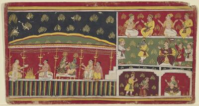 Illustration from a Bhagavata Purana Series: Story of the Syamantaka Gem