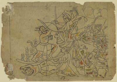 Devi Fighting Raktavija