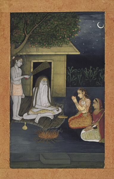 Ladies Visiting an Ascetic at Night