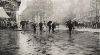 A Wet Day on the Boulevard