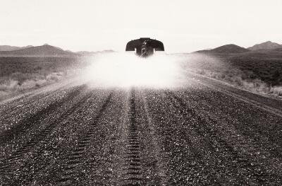 Untitled (Watering Truck on Dirt Road, Nevada)